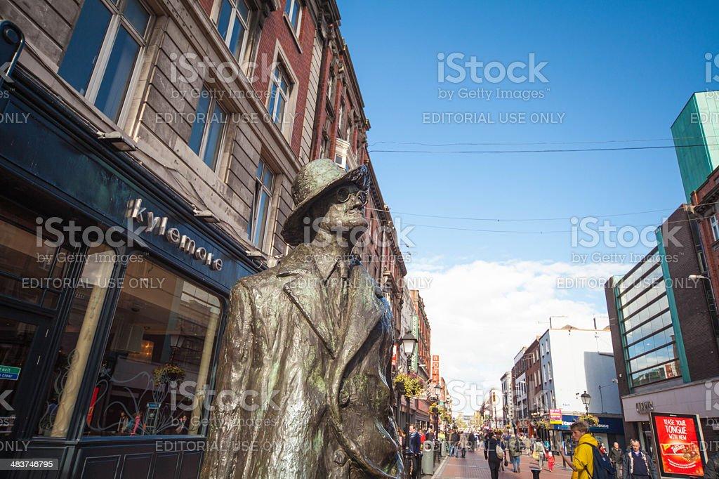 James Joyce statue in Dublin stock photo