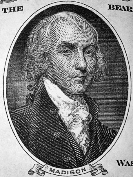 James Madison ein Porträt aus alten amerikanischen Dollars – Foto