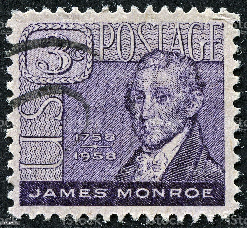James Monroe Stamp royalty-free stock photo