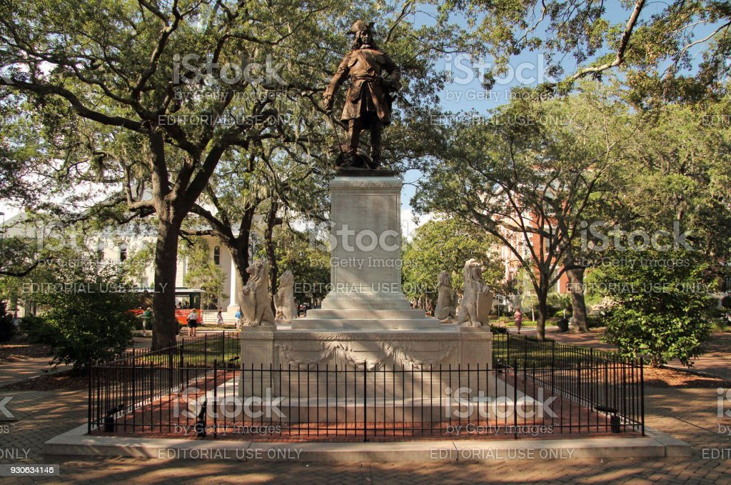James Oglethorpe Monument stock photo