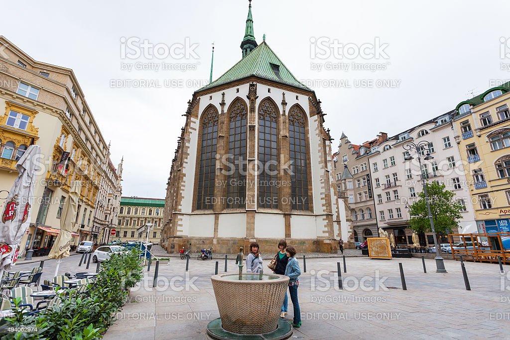 James square (Jakubske namesti) in Brno, Czech stock photo