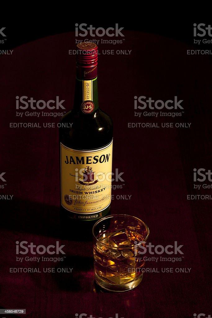 Jameson on the Rocks stock photo