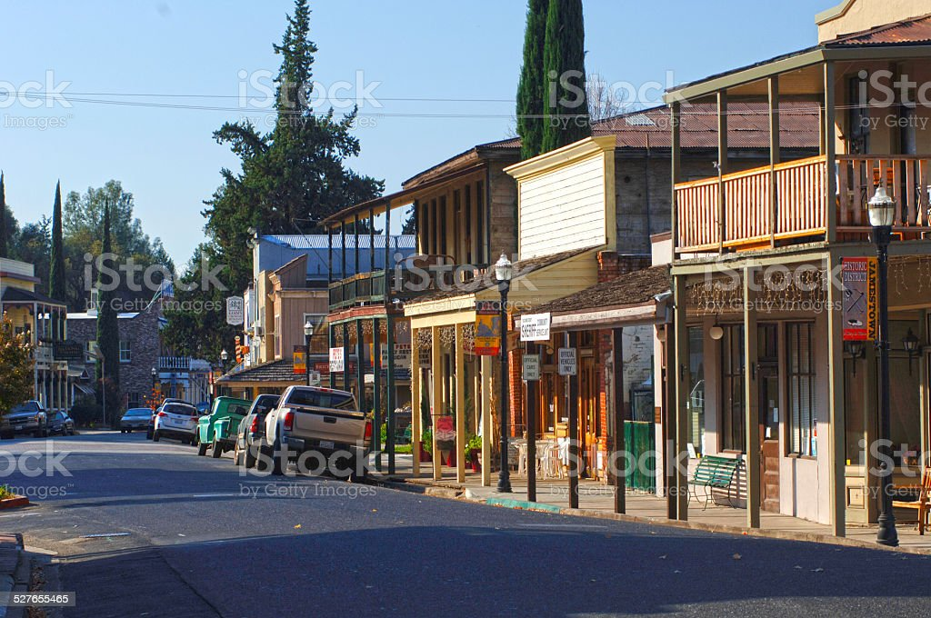 Jamestown, California stock photo
