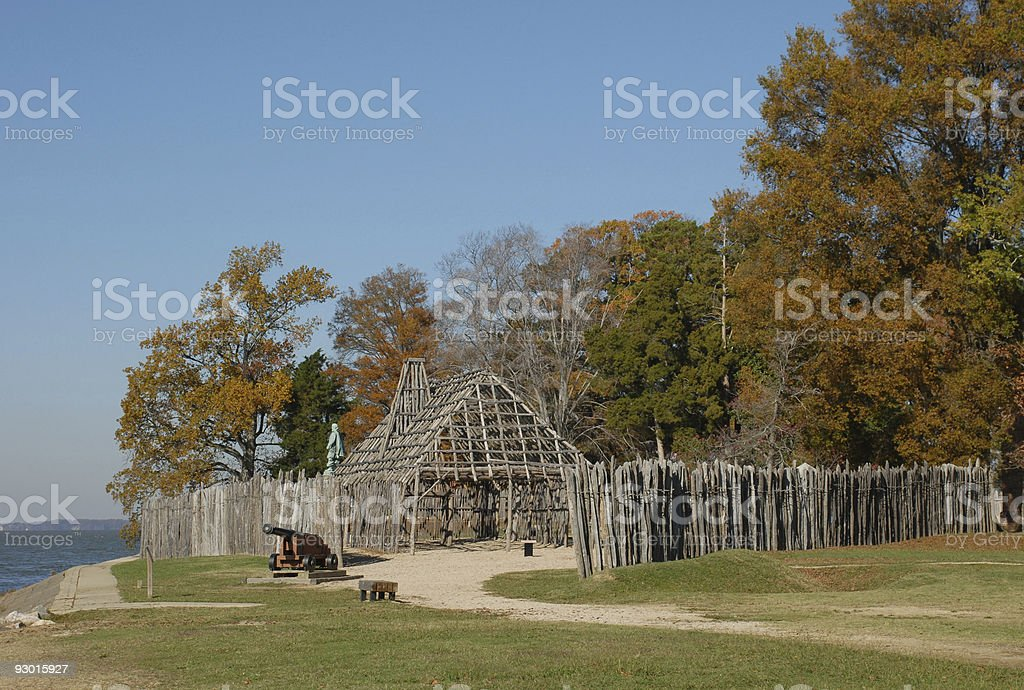 Jamestown Fort stock photo