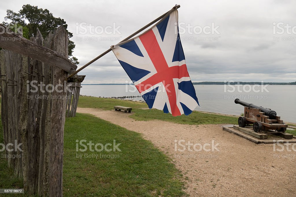 Jamestown Settlement James Fort Site Virginia Colonial National Historical Park stock photo