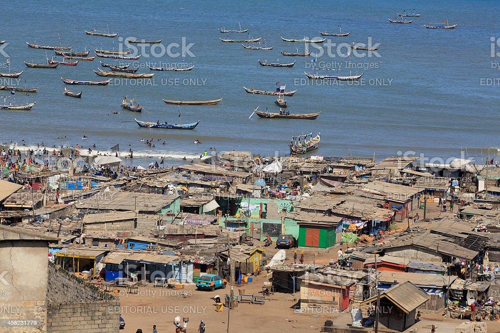 Jamestown shanty on the beach royalty-free stock photo