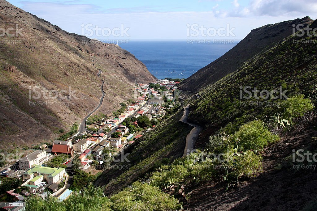Jamestown St Helena Island stock photo