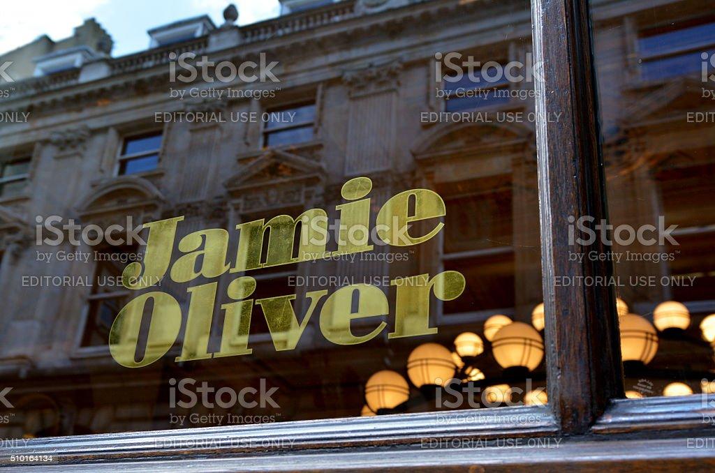 Jamie Oliver Italian restaurant in City of London stock photo