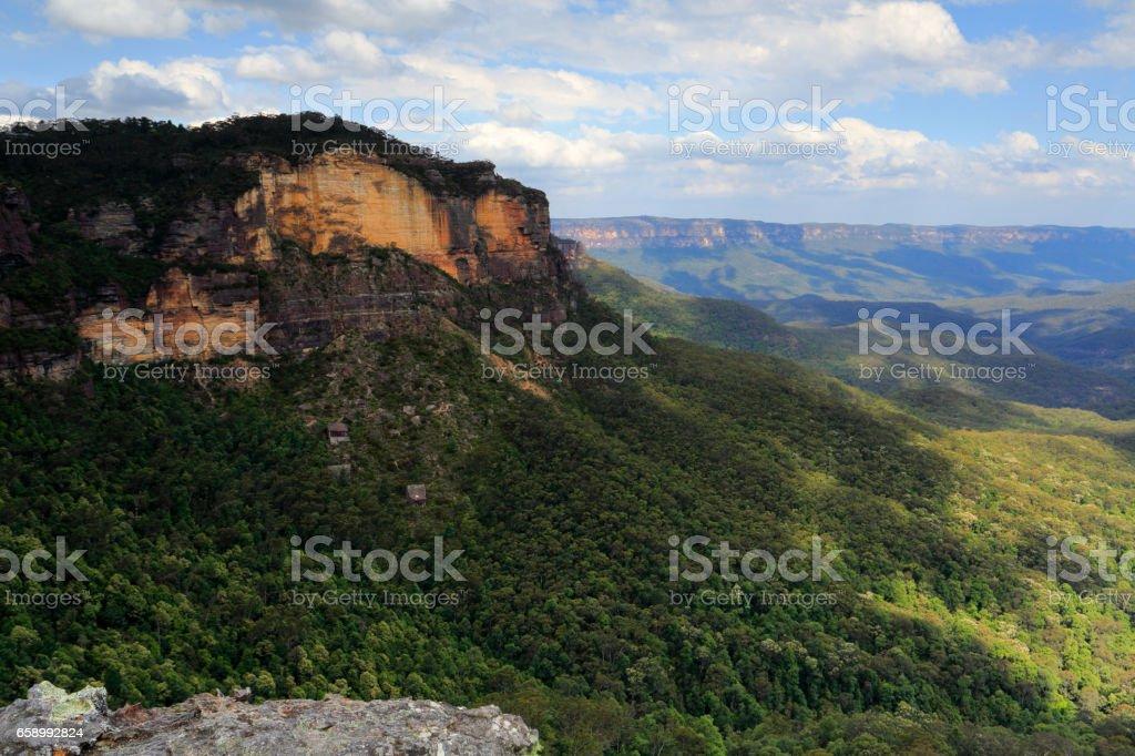 Jamison Valley Blue Mountains Naptional Park royalty-free stock photo