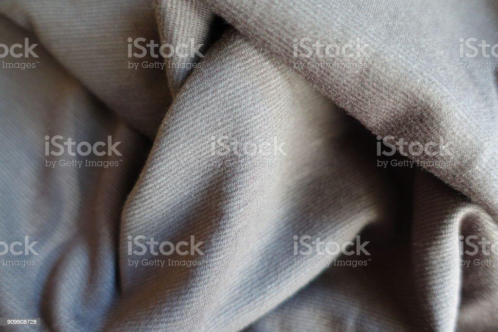 Jammed thin simple light grey jersey fabric stock photo