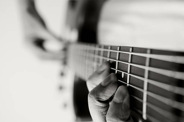 Jammin' on an Electric Guitar stock photo