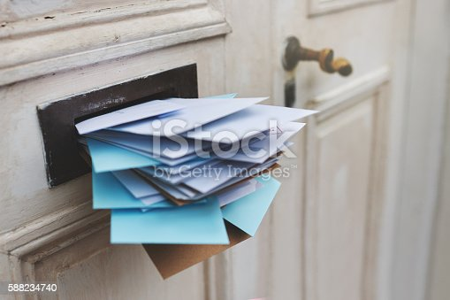 Cropped shot of letters in a letter box