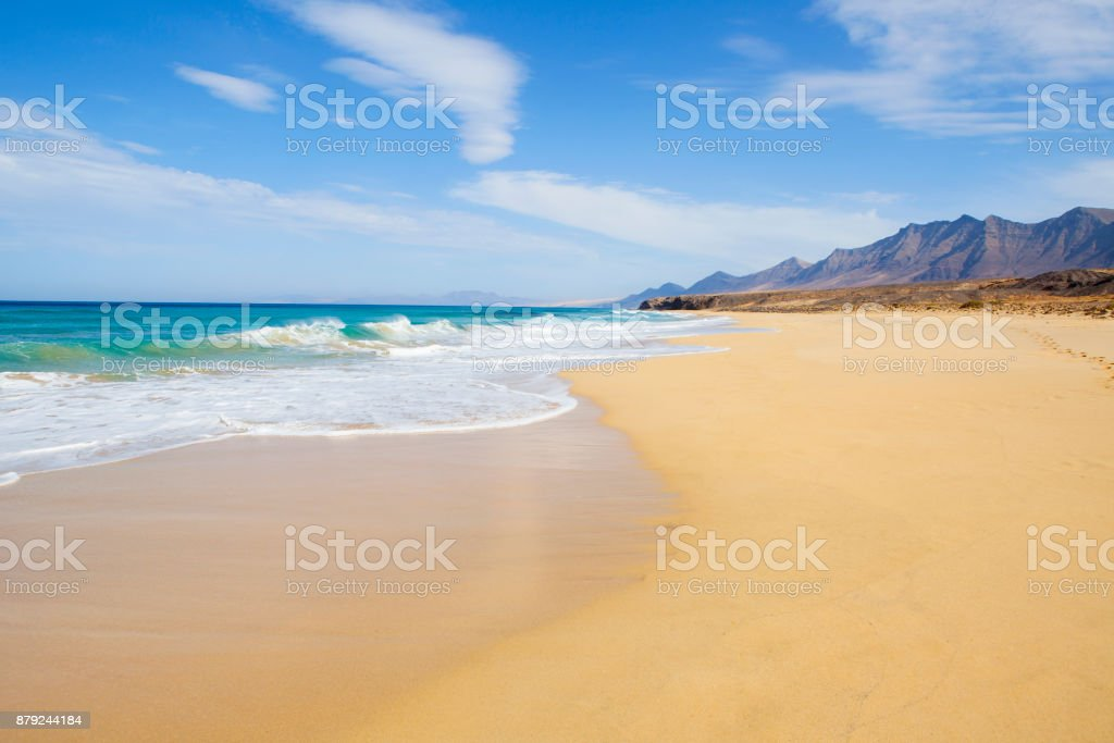 Jandía Natual park beach with amazing turquioise water stock photo