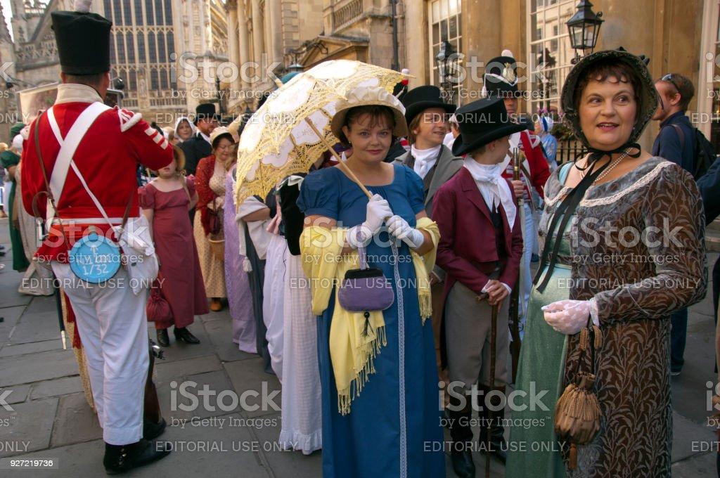 Jane Austen Festival in Bath, UK stock photo