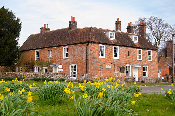 Jane Austen's House, Springtime stock photo