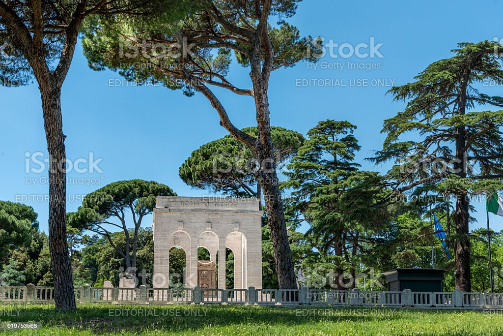 Janiculum hill monument honouring Patriots of the Independence Wars, rome stock photo