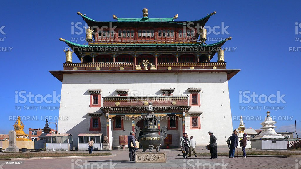 Janraiseg (Avalokiteshvara) - temple in Ulaanbaatar Mongolia royalty-free stock photo