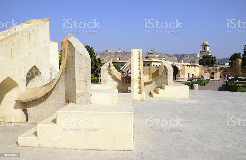 Jantar Mantar Overview - Jaipur India stock photo