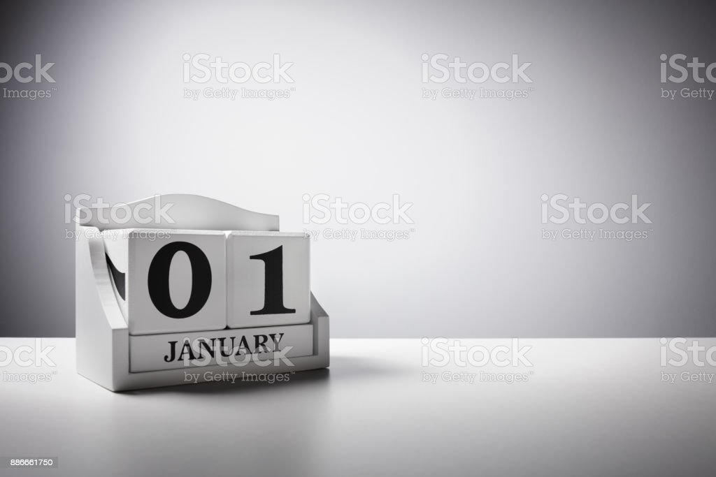 January 1st calendar background concept for new year stock photo