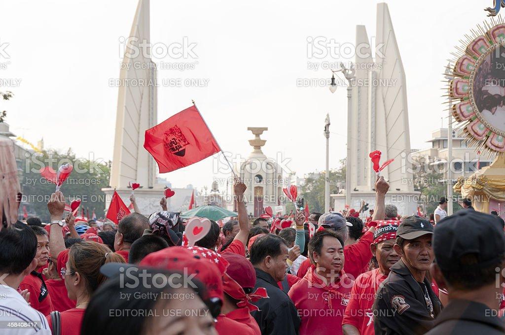 January 2011 UDD (Red Shirt) Protests In Bangkok, Thailand royalty-free stock photo