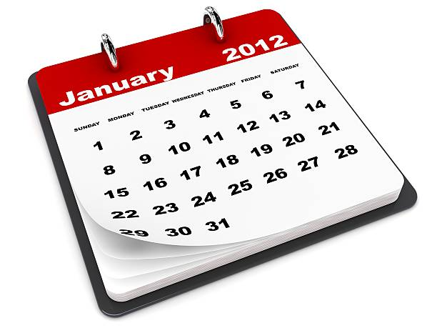 January 2012 Calendar  2012 stock pictures, royalty-free photos & images