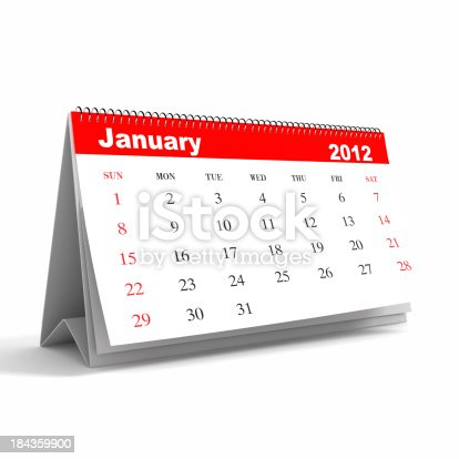 168445178 istock photo January 2012 - Calendar series 184359900