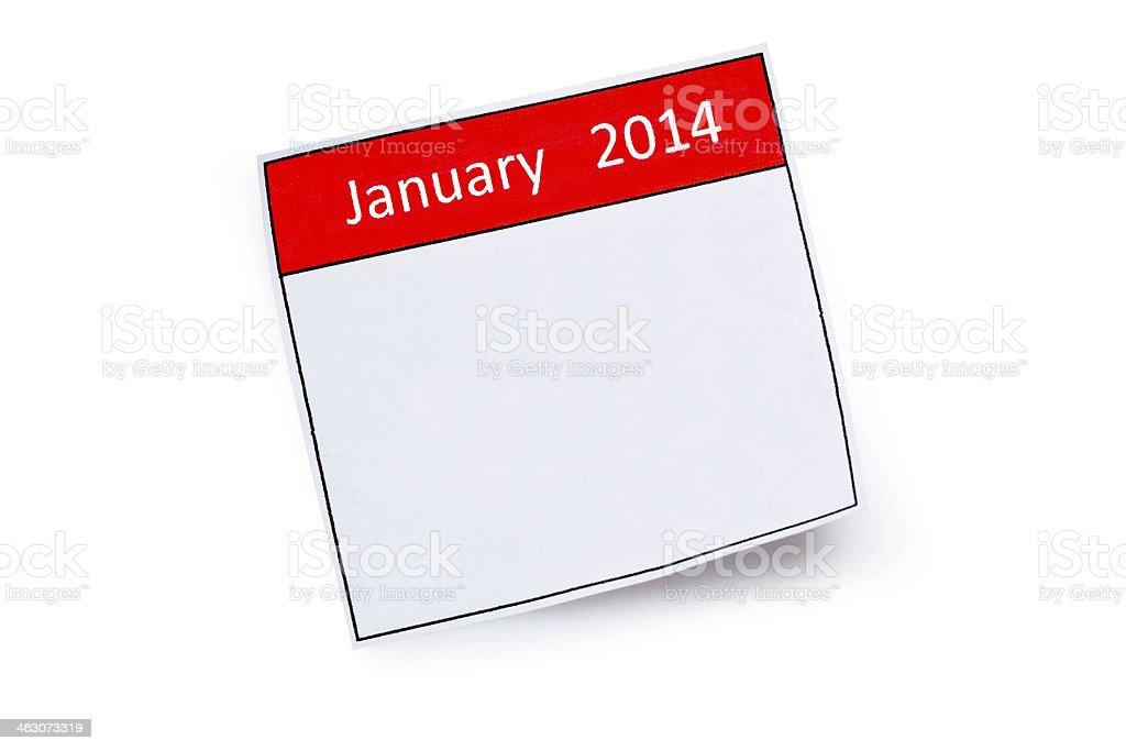 January 2014 royalty-free stock photo