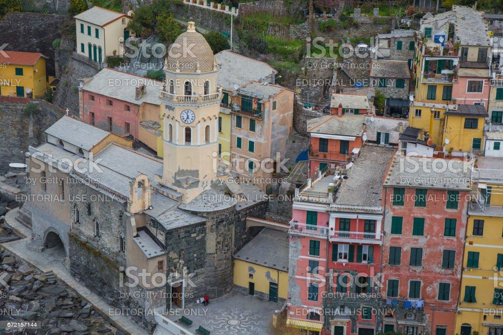 06 January 2017 Vernazza, province of La Spezia, Liguria, Italy. stock photo
