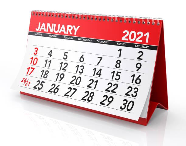 januari 2021 kalender - januari bildbanksfoton och bilder
