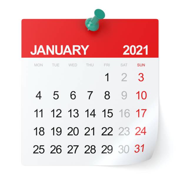 januari 2021 - kalender - januari bildbanksfoton och bilder