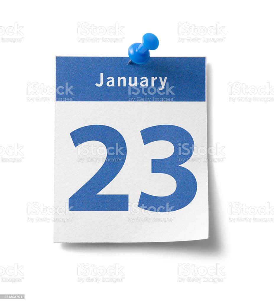 January 23rd Calendar stock photo