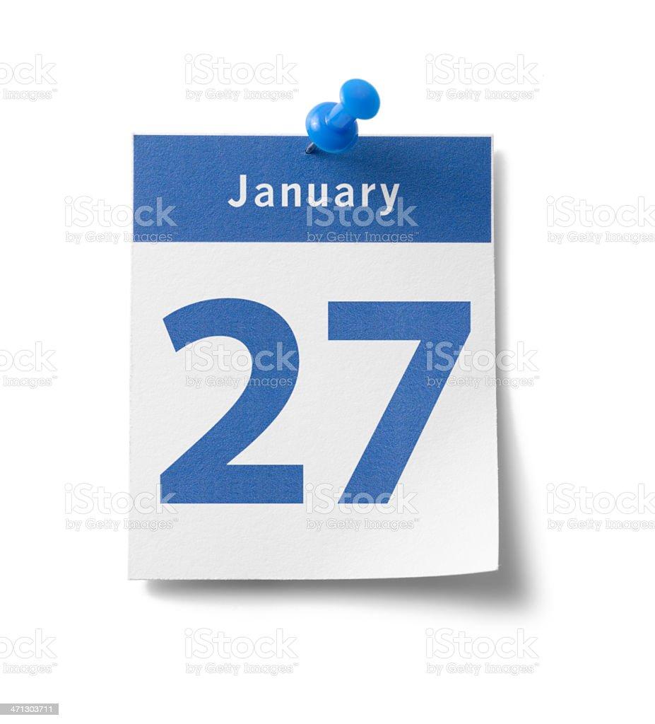 January 27th Calendar stock photo