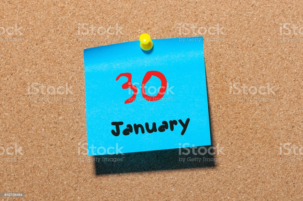 January 30th. Day 30 Of Month,Simple Calendar Icon On