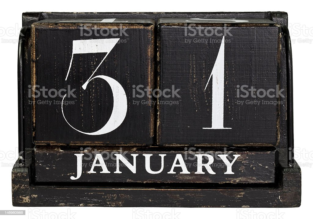 January 31 royalty-free stock photo