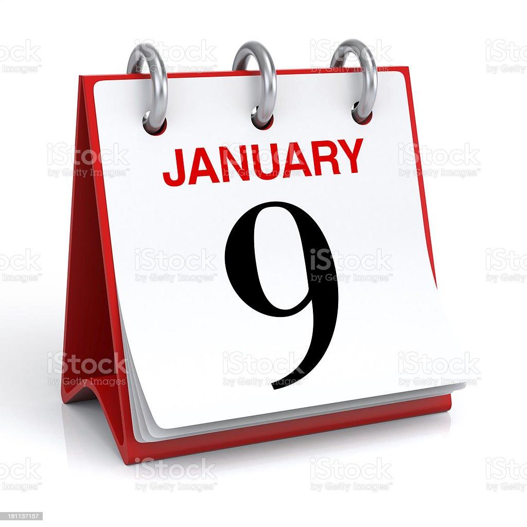 January Calendar royalty-free stock photo