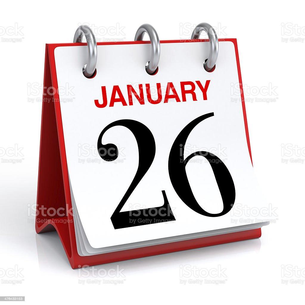 January Calendar stock photo
