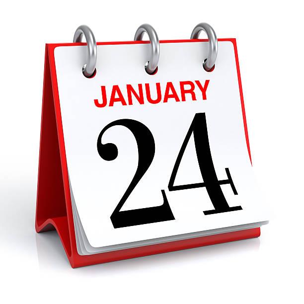 du calendrier janvier - nombre 24 photos et images de collection