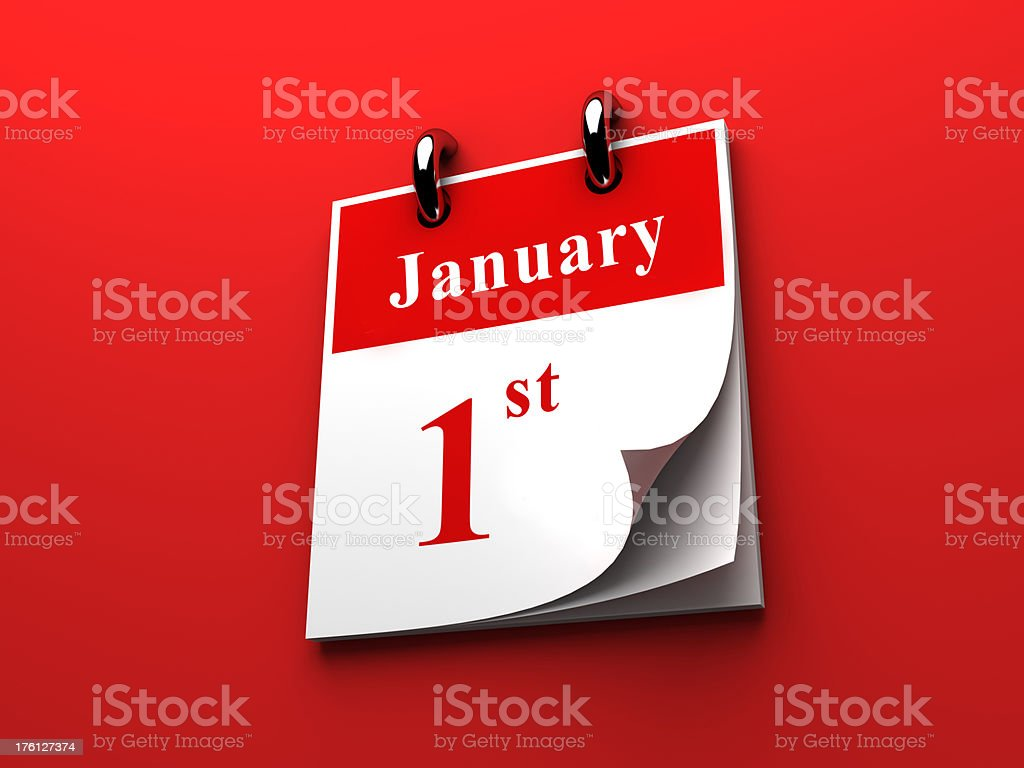 January first stock photo