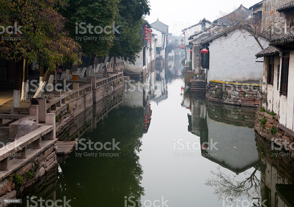 January. Morning in Zhouzhuang royalty-free stock photo