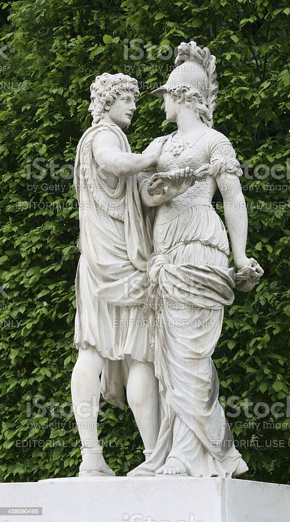 Janus and Bellona stock photo
