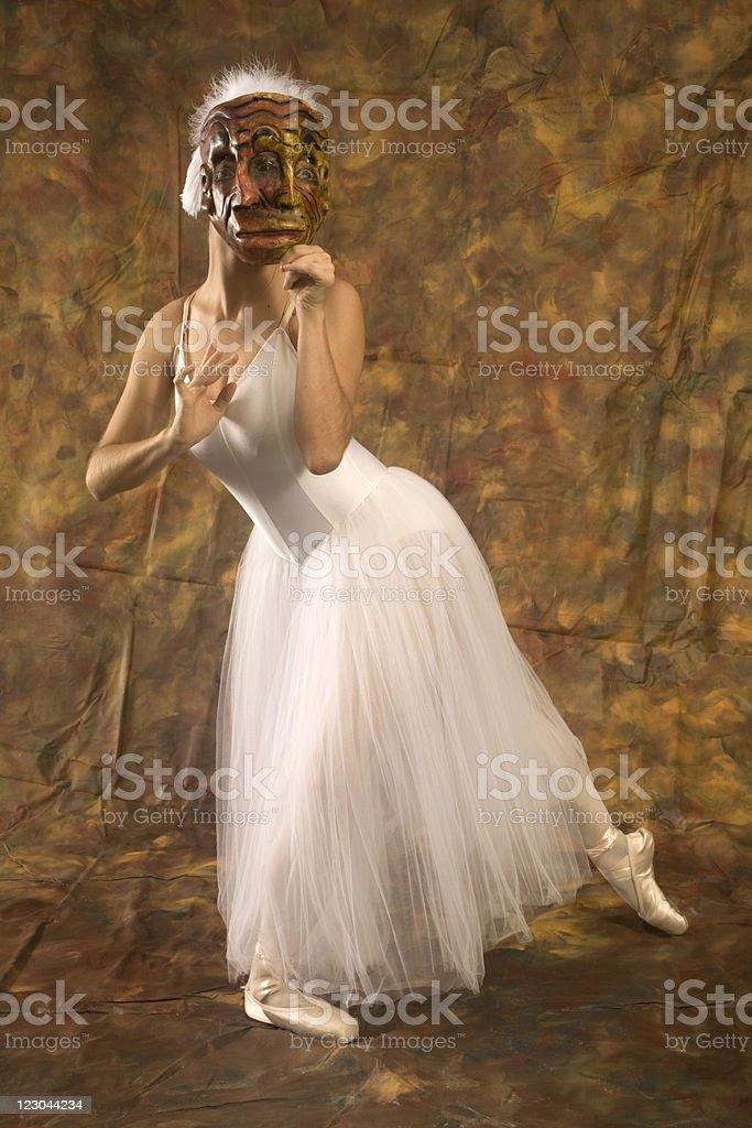 Janus Ballerina in a Swan Lake Costume royalty-free stock photo