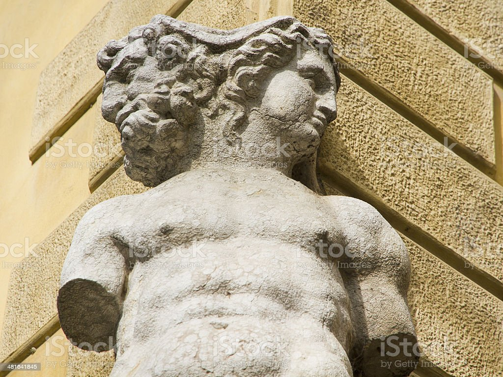 Janus sculpture stock photo