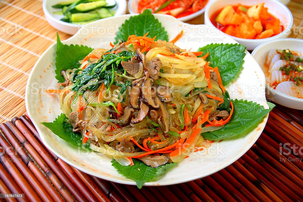 jap chae royalty-free stock photo