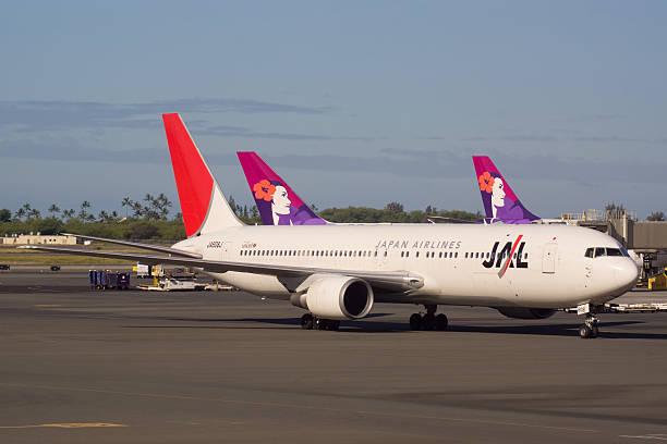 japan airlines b767 - b767 stock-fotos und bilder