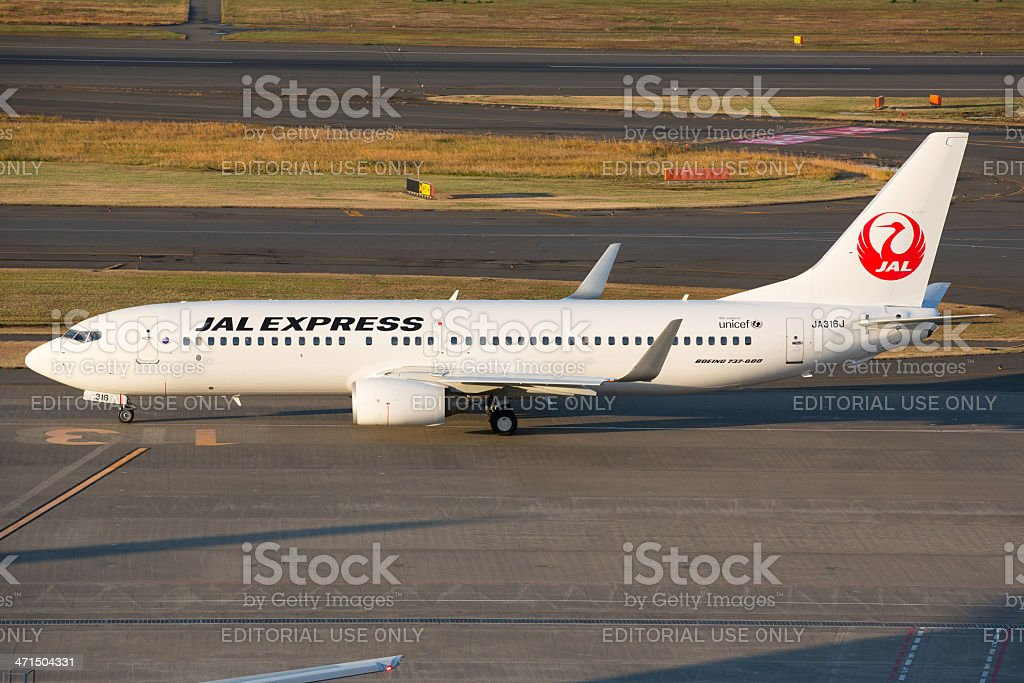 Japan Airlines (JAL Express) Boeing 737-800 royalty-free stock photo