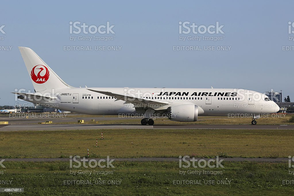 Japan Airlines Boeing 787 Dreamliner royalty-free stock photo