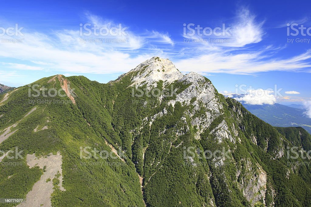 Japan Alps Mt. Kaikomagatake royalty-free stock photo