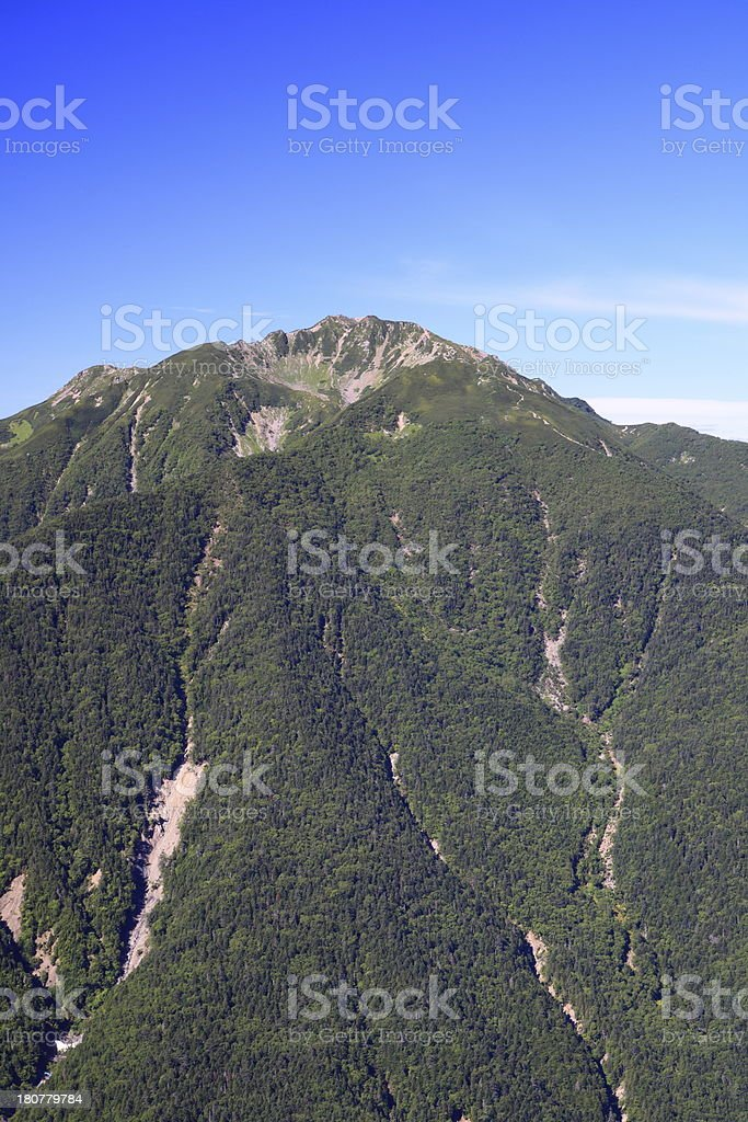 Japan Alps Mt. Senjougatake royalty-free stock photo