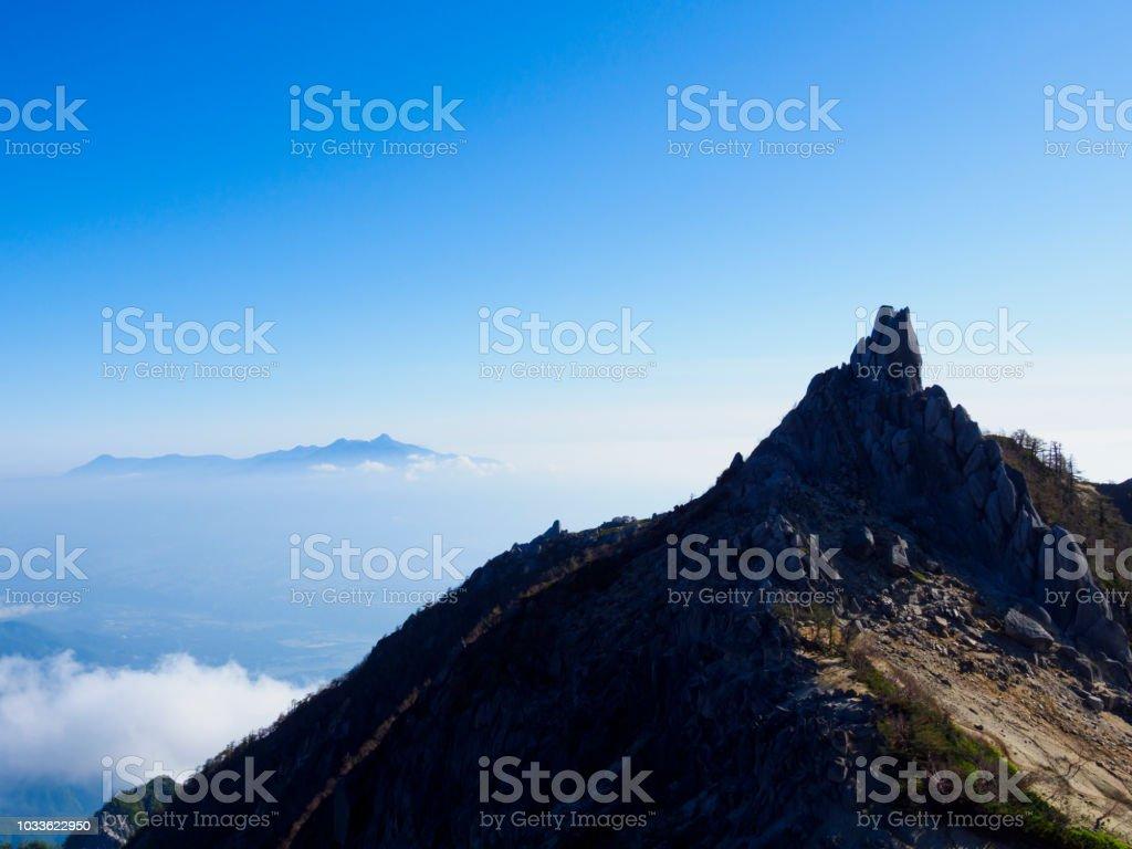 japan alps Mt.jizou stock photo