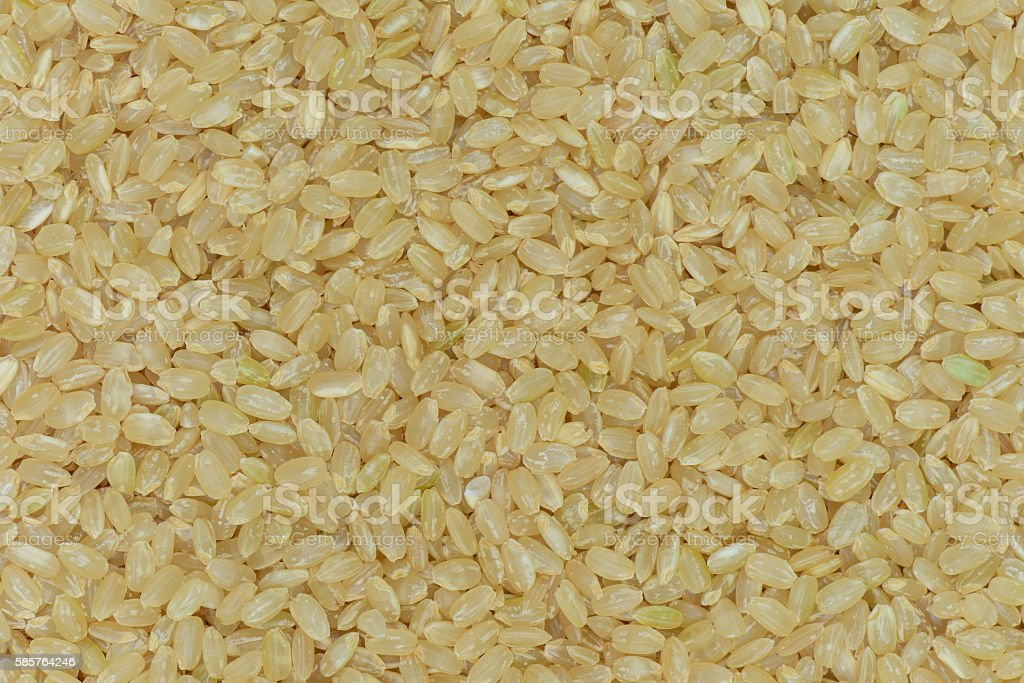 Japan Coarse rice background, Japan brown rice for healthy stock photo